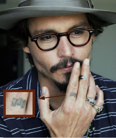 Tatuaje Calavera Johnny Depp tatuajes: johnny depp (parte 2) | se divertido!